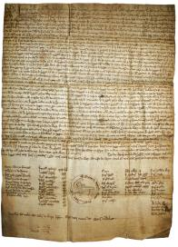 The Constitutional Charter of the Burgo of Castro Caldelas is the first text written in Galician