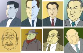 Serie de caricaturas de Carvalho Calero elaboradas por Siro
